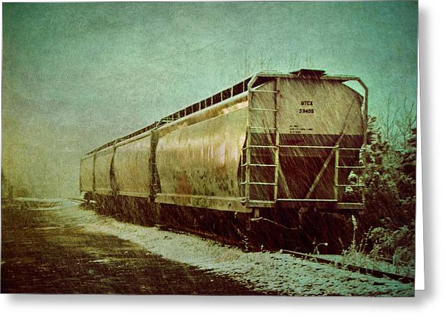 By The Tracks Greeting Card