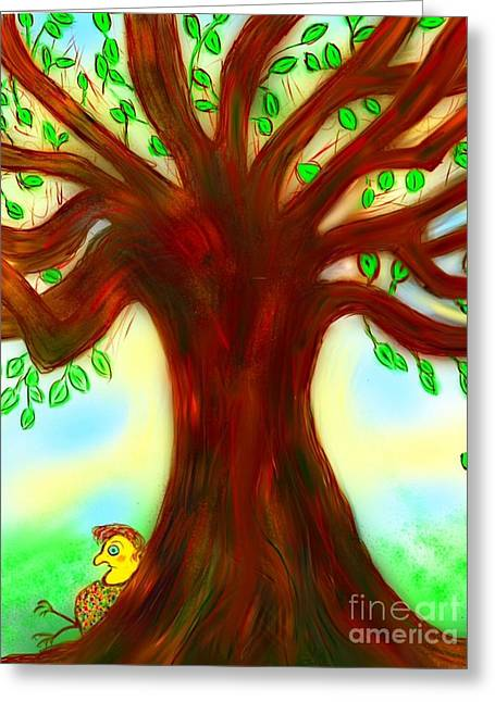 By The Tree Greeting Card by Susan Townsend