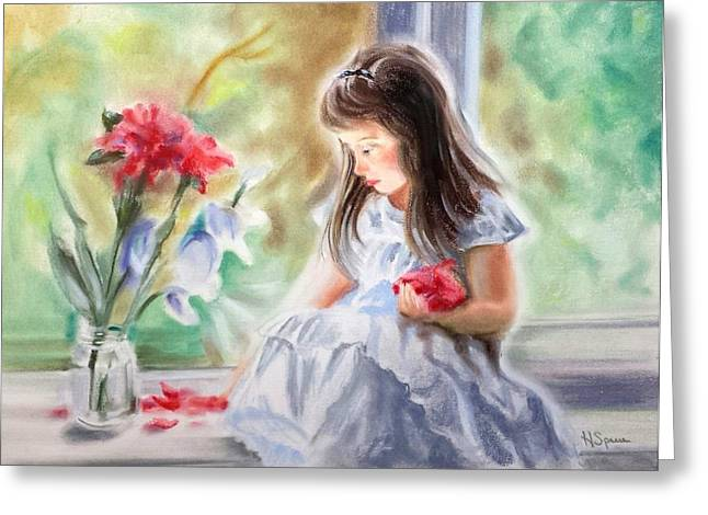 By The Window Greeting Card by Harry Speese