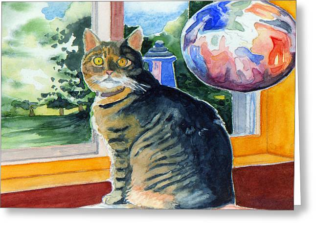 By The Window Greeting Card by Katherine Miller