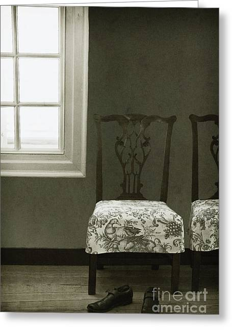 By The Window Greeting Card by Margie Hurwich