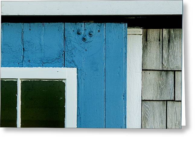 Old Door In Blue Greeting Card