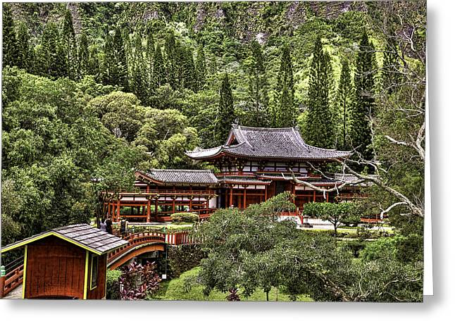 Byodo-in Greeting Card by Joanna Madloch