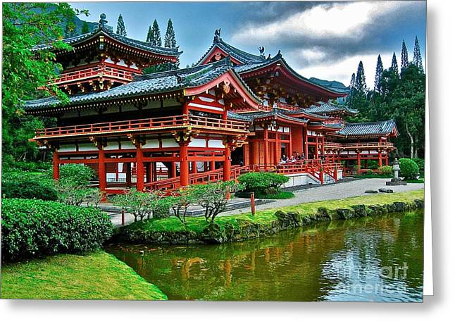 Byodo-in Temple #0026 Greeting Card