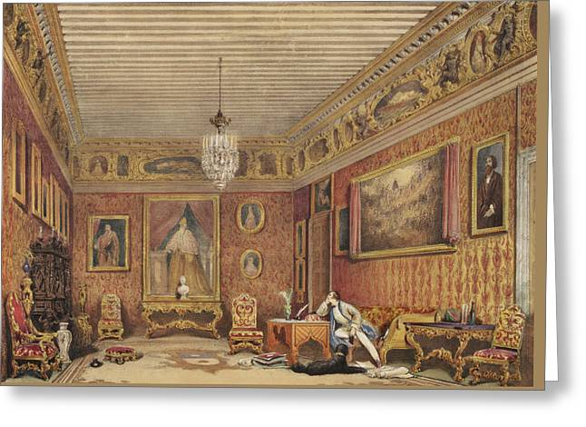 Byrons Room In Palazzo Mocenigo, Venice Greeting Card