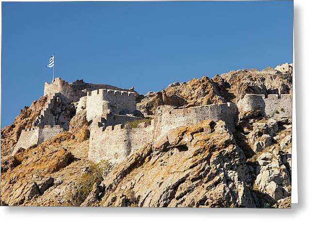 Byzantine Castle Greeting Card by Ashley Cooper