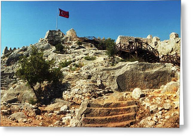 Byzantine Castle Of Kalekoy Greeting Card by Panoramic Images