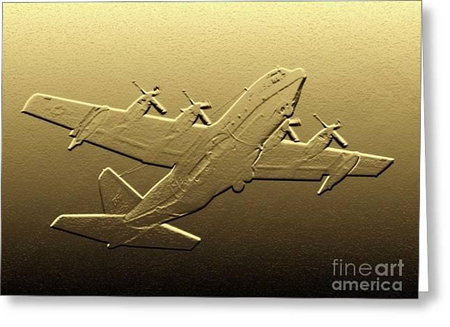 C-130 Hercules - Digital Art Greeting Card by Al Powell Photography USA