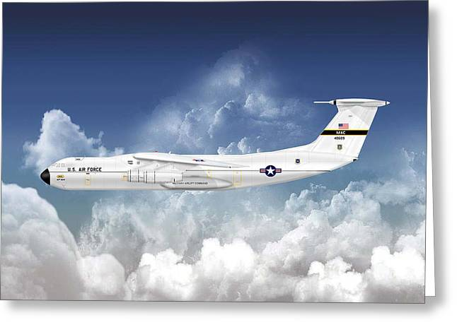 C-141a Starlifter Greeting Card by Arthur Eggers