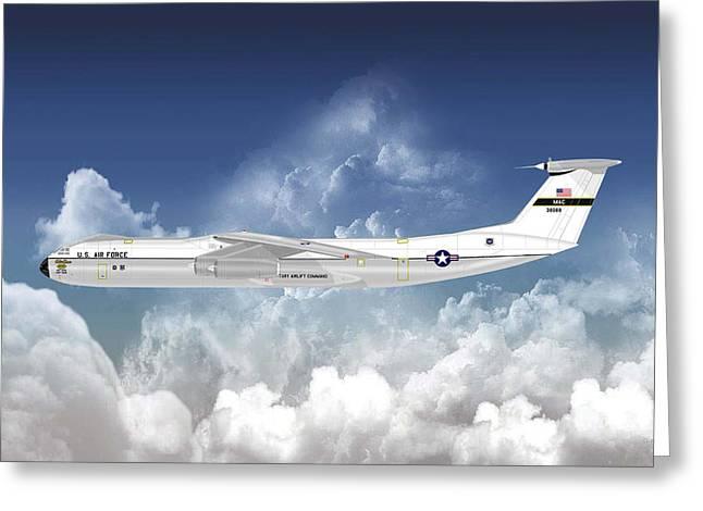 C-141b Starlifter Greeting Card by Arthur Eggers