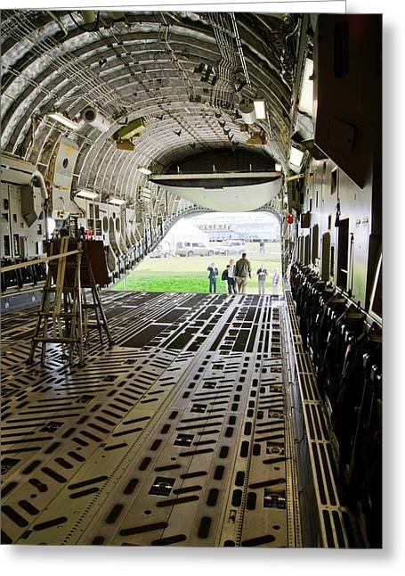 C-17 Globemaster Cargo Bay Greeting Card by Mark Williamson