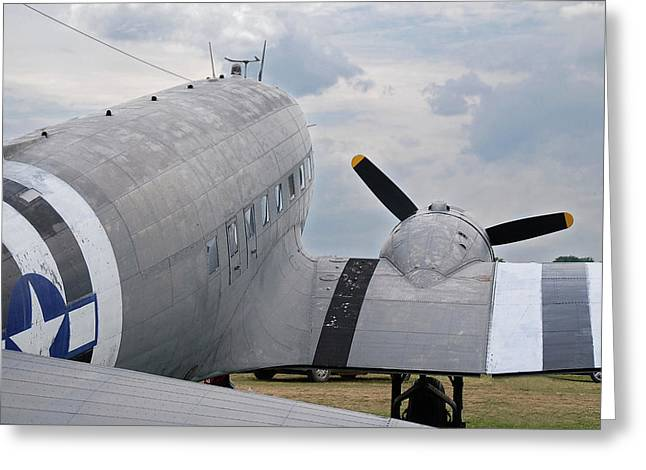 Greeting Card featuring the photograph C-47 3880 by Guy Whiteley
