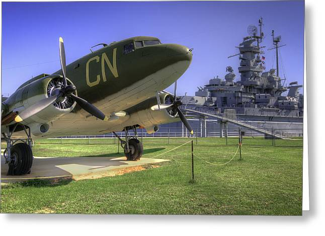 C-47 Skytrain Military Transport Greeting Card by Tim Stanley