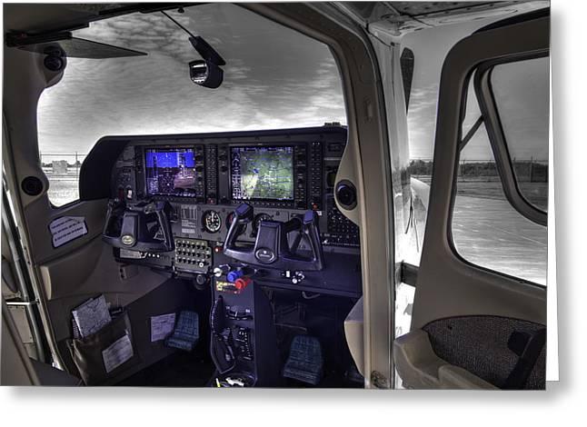 C A P Cessna 182 Skylane G1000 Fsx V1 Greeting Card by John Straton
