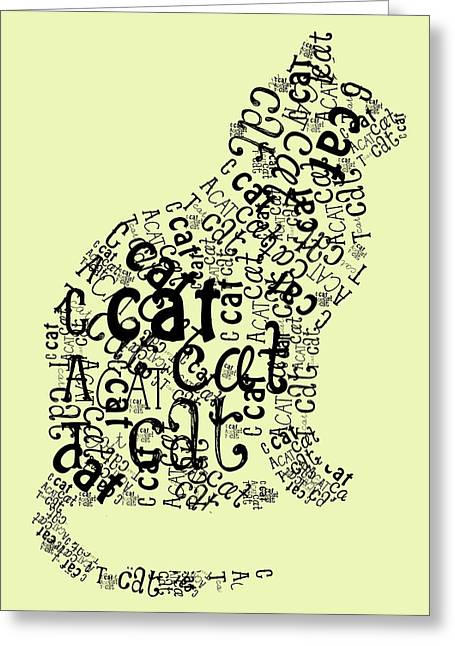 C Is For Cat Greeting Card by Heather Applegate