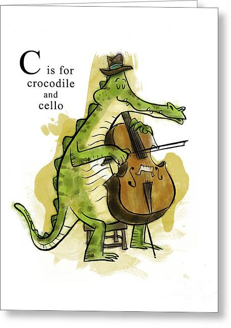 C Is For Crocodile Greeting Card