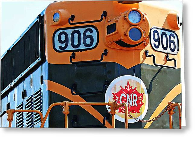 C N R Train 906 Greeting Card