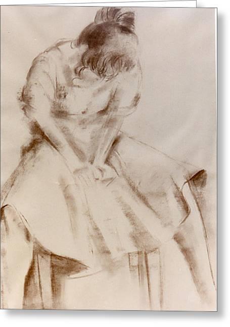 C12. Dancer Resting Greeting Card