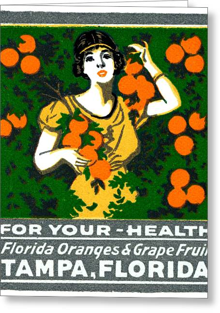 C.1920 Tampa For Your Health Greeting Card by Historic Image