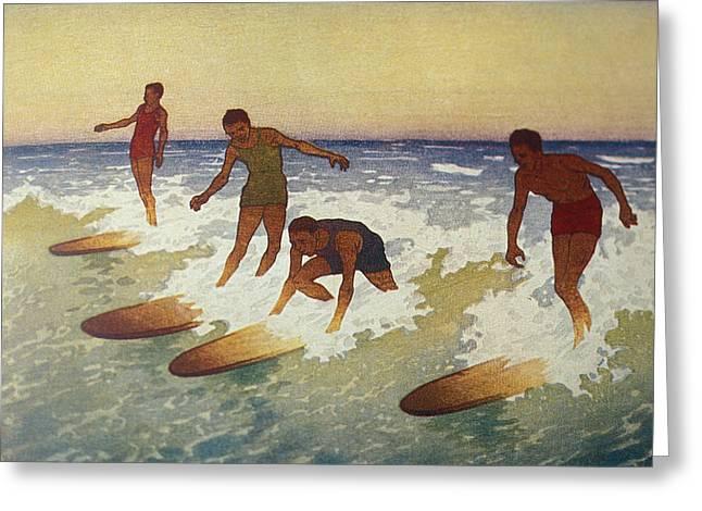C.1927 Hawaii, Painting, Charles Greeting Card by Hawaiian Legacy Archive