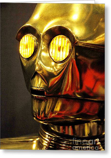 C3-po On Display Greeting Card by Micah May