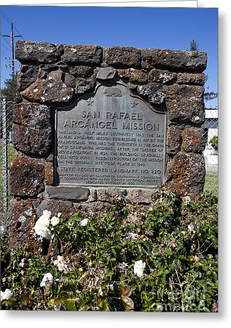 Ca-220 San Rafael Arcangel Mission Greeting Card by Jason O Watson