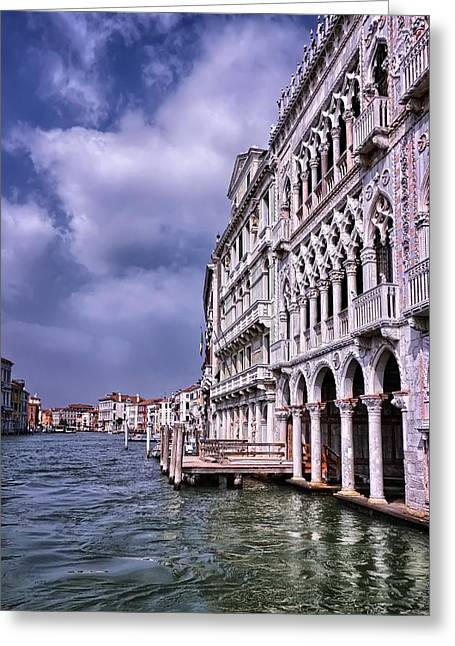 Ca' D'oro Venice Greeting Card by Carol Japp