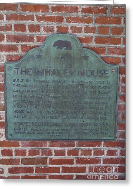 Ca65-the Whaley House Greeting Card