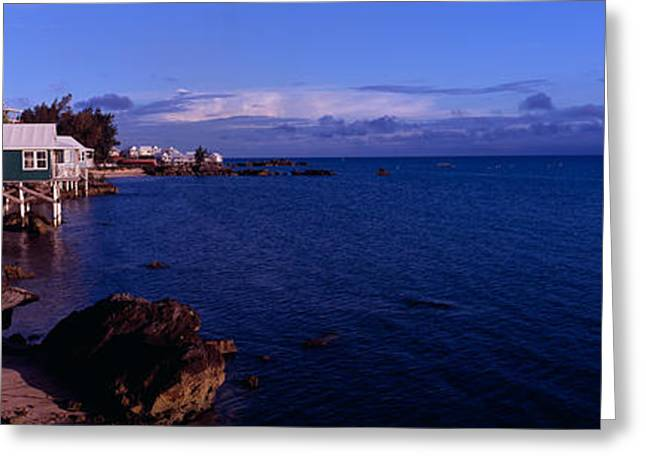 Cabanas On The Beach, Bermuda Greeting Card by Panoramic Images