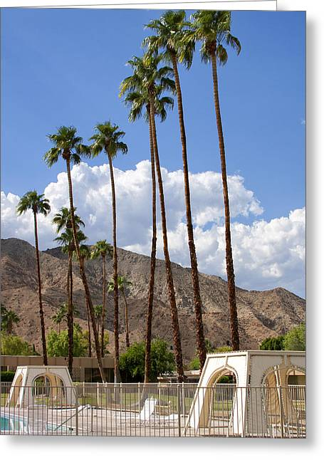 Cabanas Palm Springs Greeting Card by William Dey