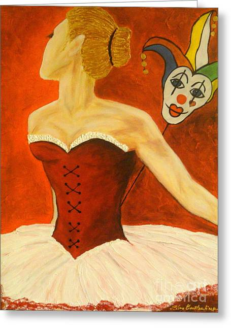 Cabaret Ballerina Greeting Card