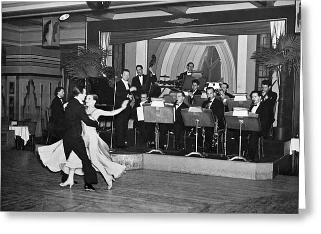 Cabaret Dancing At A Nightclub Greeting Card by Underwood Archives