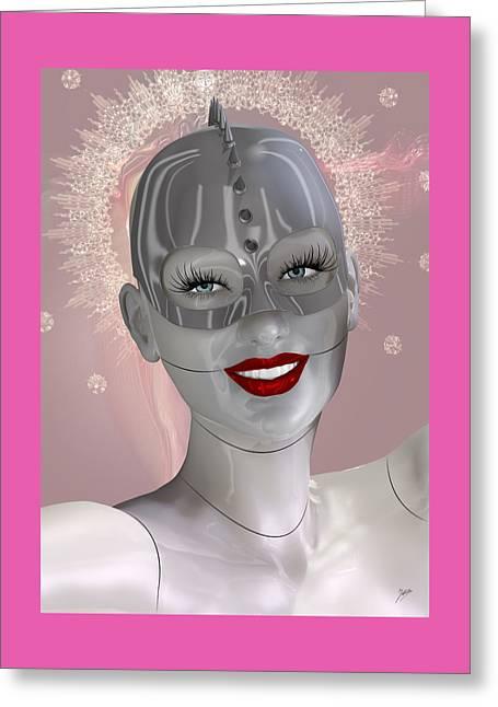 Cabaret Of The Spiritual Robot Greeting Card by Quim Abella