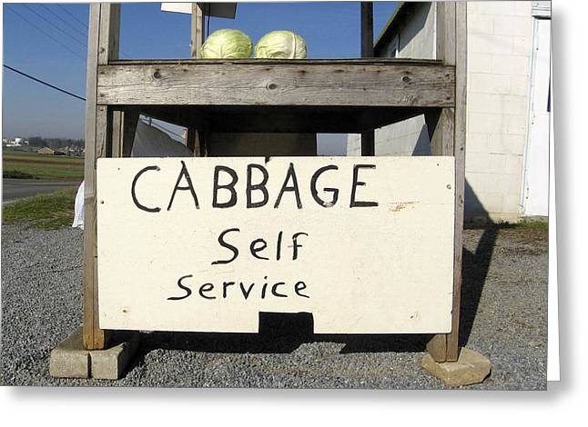 Cabbage Self Service Greeting Card