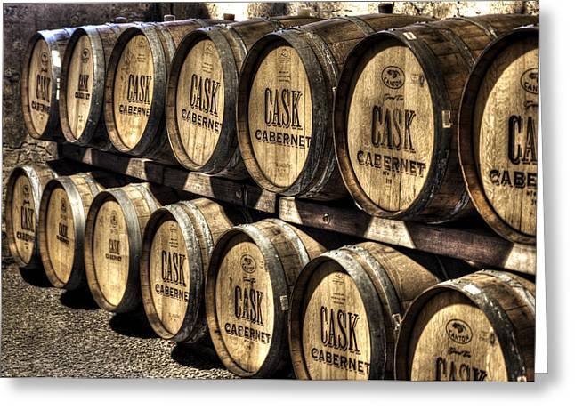 Cabernet Barrels Greeting Card by Diego Re