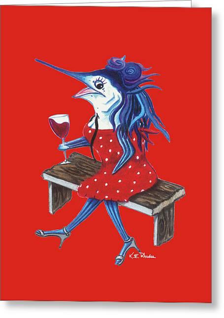 Cabernet Trixie Greeting Card by Karen Rhodes