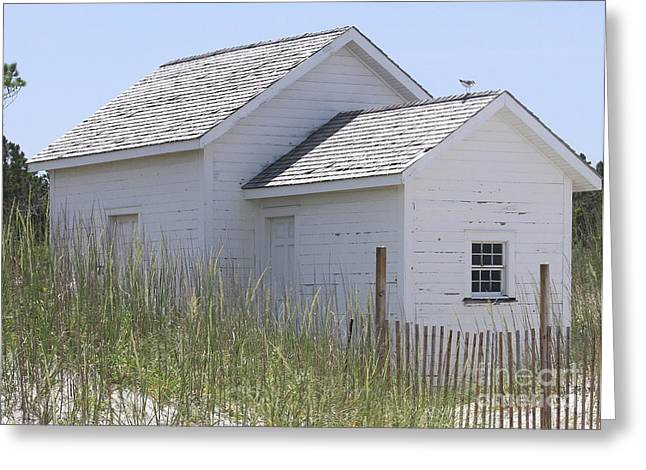 Cabin At Cape Lookout 2 Greeting Card by Cathy Lindsey