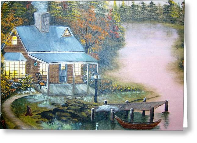 Cabin At The Lake Greeting Card