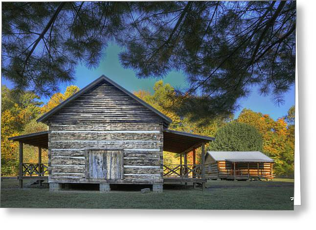 Cabin At Yellow Creek Greeting Card