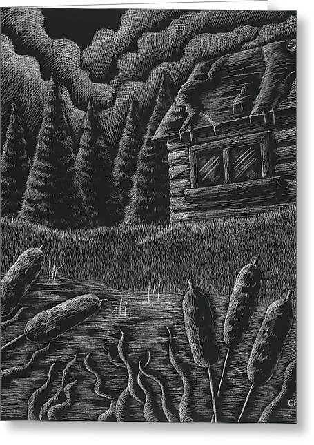 Cabin By A Lake Greeting Card