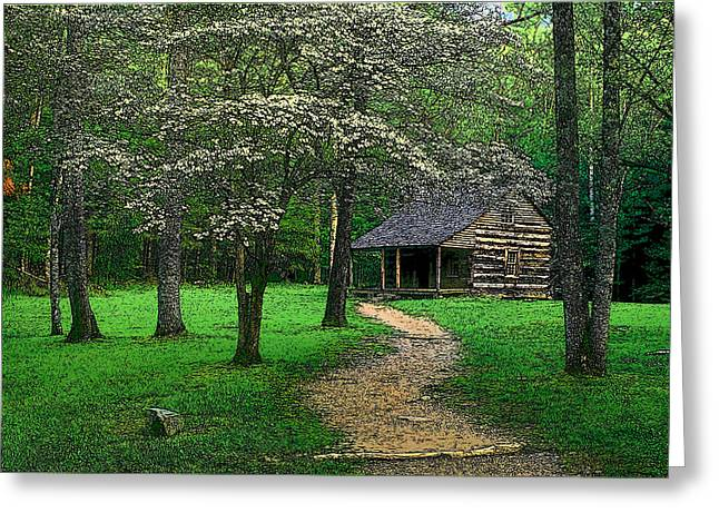 Greeting Card featuring the photograph Cabin In Cades Cove by Rodney Lee Williams
