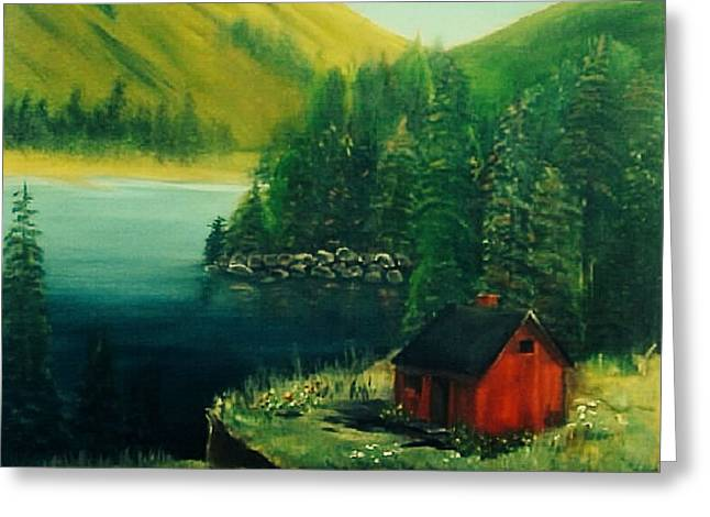 Cabin In The Catskills Greeting Card by Catherine Swerediuk