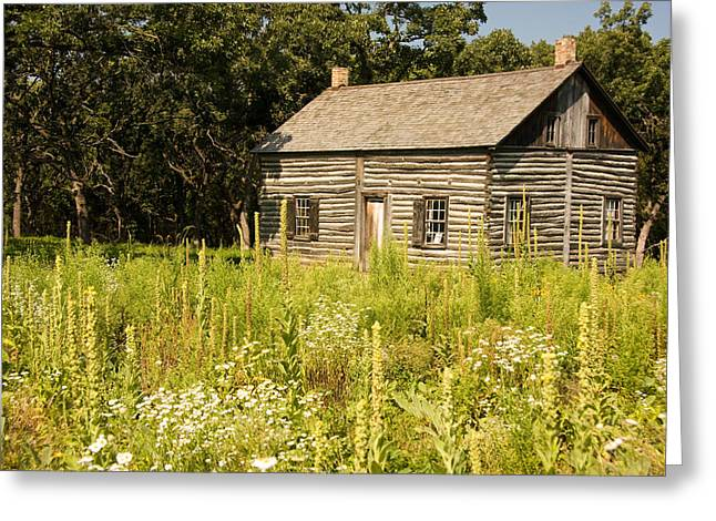 Cabin In The Prairie Greeting Card