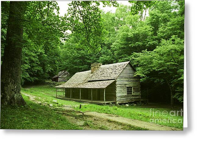 Greeting Card featuring the photograph Cabin In The Smokey Mtns by Arthaven Studios