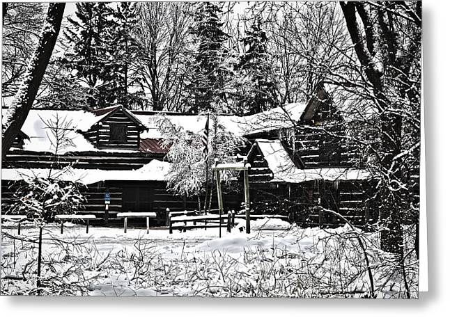 Greeting Card featuring the photograph Cabin In The Woods by Deborah Klubertanz