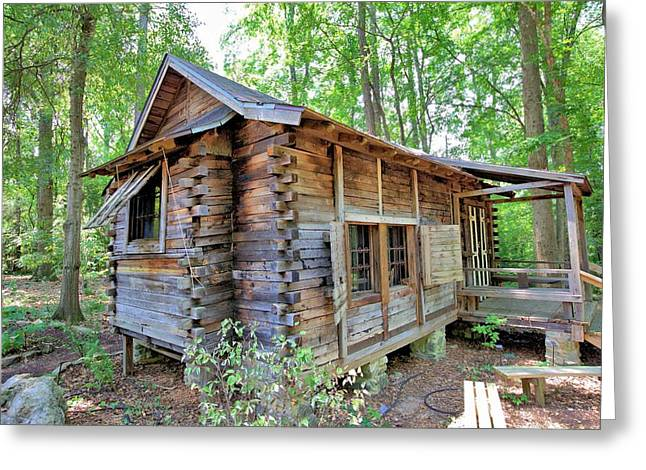 Greeting Card featuring the photograph Cabin In The Woods by Gordon Elwell