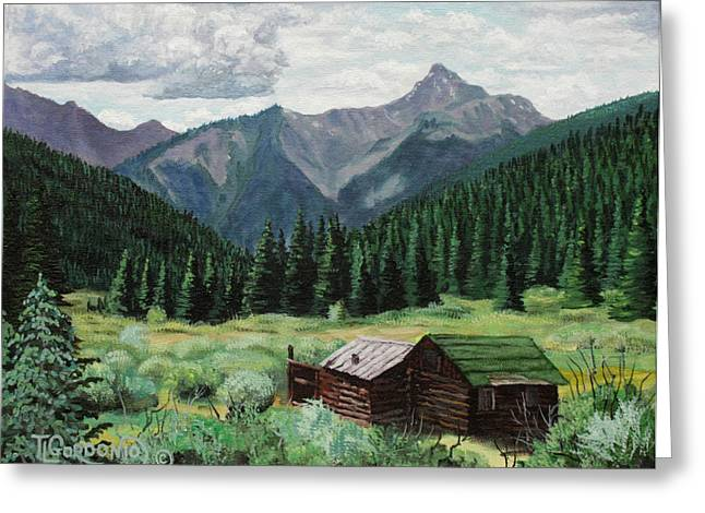 Cabin With A View Greeting Card by Timithy L Gordon