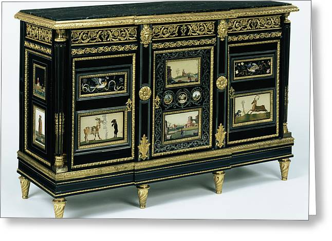 Cabinet One Of A Pair Attributed To Adam Weisweiler Greeting Card