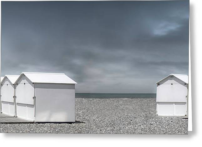 Cabins Beach Greeting Card by Gilbert Claes