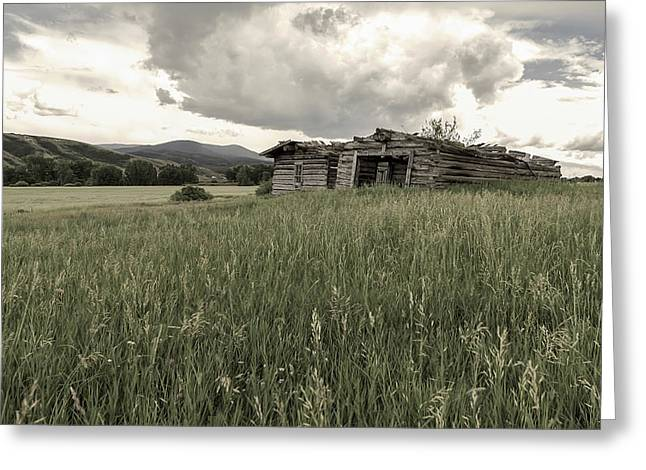 Cabins In Sync Greeting Card by Stellina Giannitsi